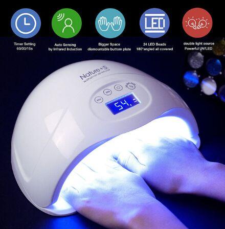 2019 Nail Dryer 48W LED UV Lamp Fingernail Gel Curing Manicure Art ...
