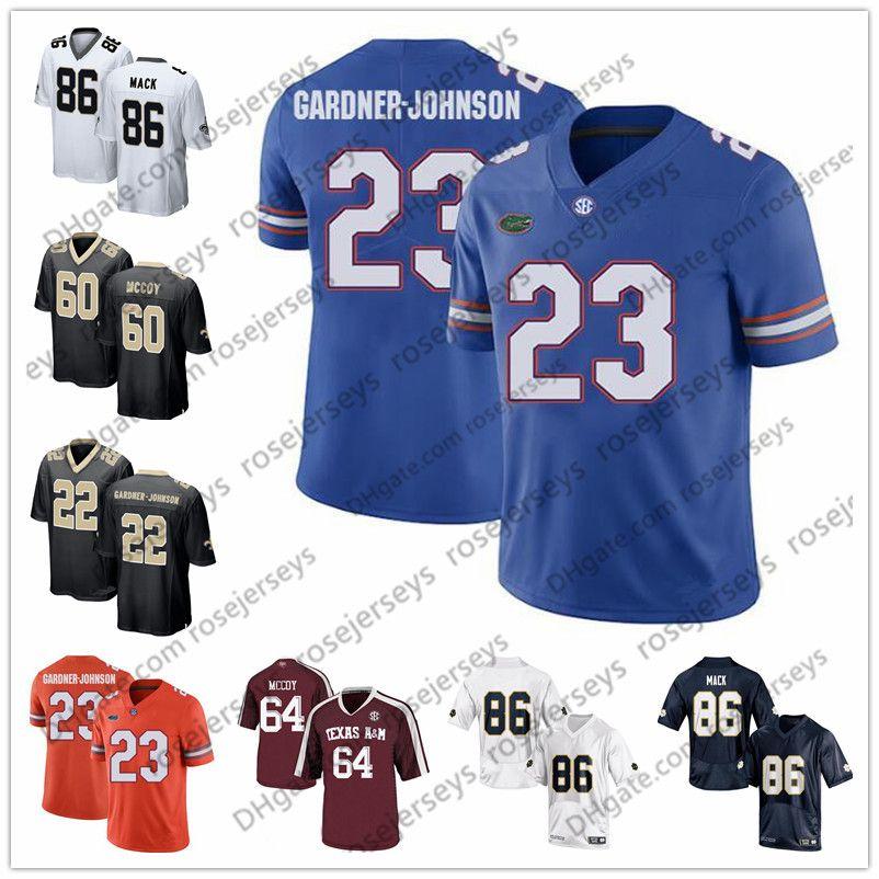 hot sale online c8e41 2d572 2019 NCAA Florida Gators #23 Chauncey Gardner-Johnson White A&M Aggies Erik  McCoy Notre Dame 86 Alize Mack Black Football Jersey
