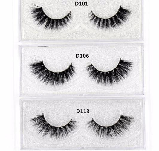 Eyelashes 3d Lashes Hand Made Eyelashes High Volume Free False Eyelashes Glitter Packing 2019