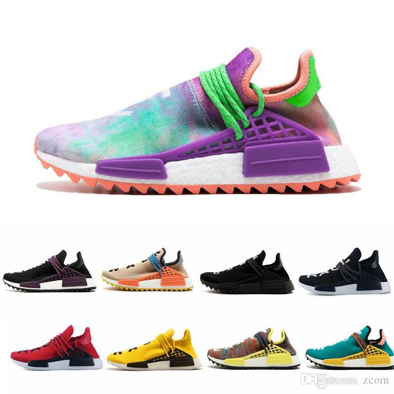 136d1563c4d75 2019 NMD Human Race TR Running Shoes Pharrell Williams Nmds Human Races  Pharell Williams Mens Womens Trainers Sports Sneakers 36 45 Men Sports  Shoes Shoe ...