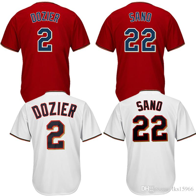 the latest 097df e36ae Minnesota Twins Baseball Jerseys 22 Miguel Sano 2 Brian Dozier Cheap  jerseys High quality embroidery Adult shirt Breathable absorbent