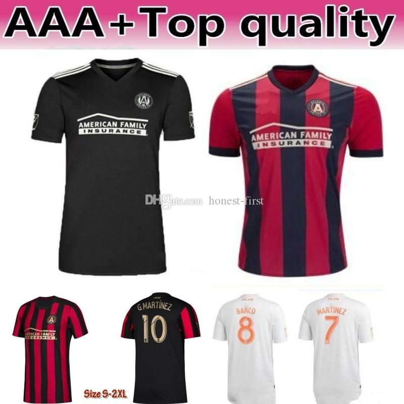online store 84ef8 fbe1c 2019 2020 Atlanta United FC Soccer Jerseys 10 ALMIRON 16 MCCANN 15 VILLALBA  7 MARTINEZ GARZA Custom Home Red White Black Football Shirt