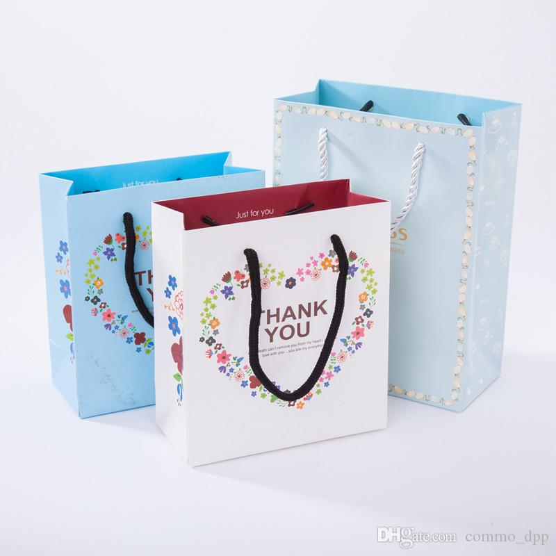 wholesale Bulk Jewelry Gift bag For box THANK YOU PRINCESS Kraft paper Jewelry Pouches Packaging & Display