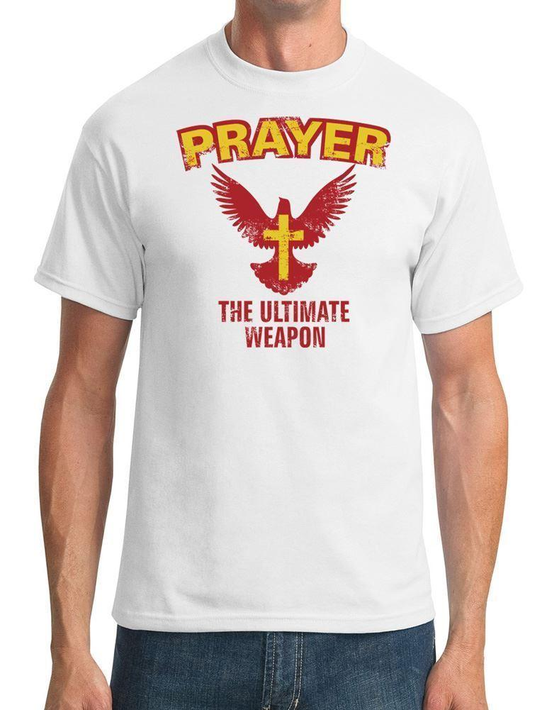 761827400f2cf Prayer The Ultimate Weapon Cool Religious Mens T Shirt Cool Casual Pride T  Shirt Men Unisex New Fashion Tshirt Loose Retro T Shirts Tshirt Designs  From ...