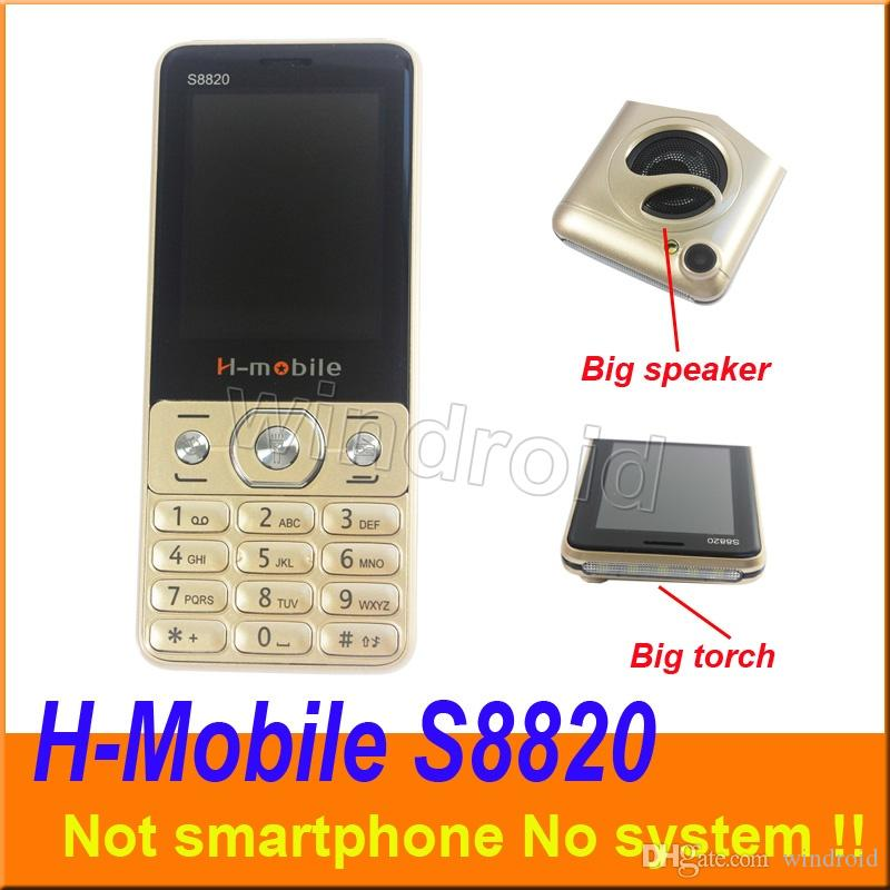 H-Mobile S8820 2.8 inch Cheapest Mobile Phone Dual Sim Quad Band 2G GSM Phone Unlocked with big Flashlight torch speaker whats app 10pcs