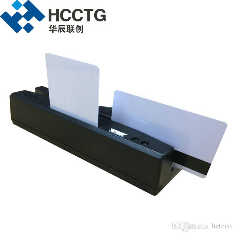 High Quality 13.56 MHz Three Track LED USB Magnetic RFID IC Read Card Reader HCC-110