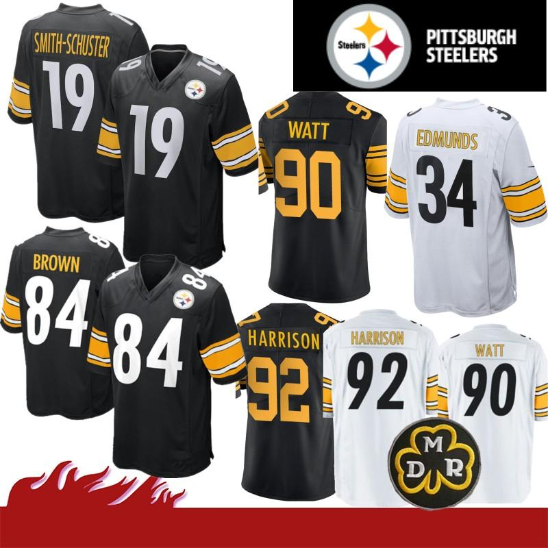 the best attitude ada2d c20b5 90 T.J. Watt 19 Juju Smith-Schuster Pittsburgh Jersey Steeler 43 Polamalu  21 Joe Haden 50 Ryan Shazier 22 Terrell Edmunds 36 Bettis 84 Brown