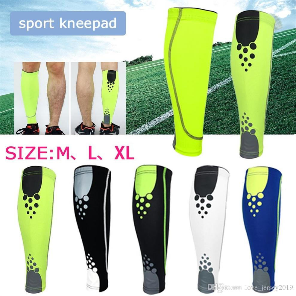 7f37ee898c 2019 Elastic Knee Calf Support Football Leg Sleeve Calf Compression Sleeve  Cycling Socks Support Sports Climbing Running #197792 From Love_jersey2019,  ...
