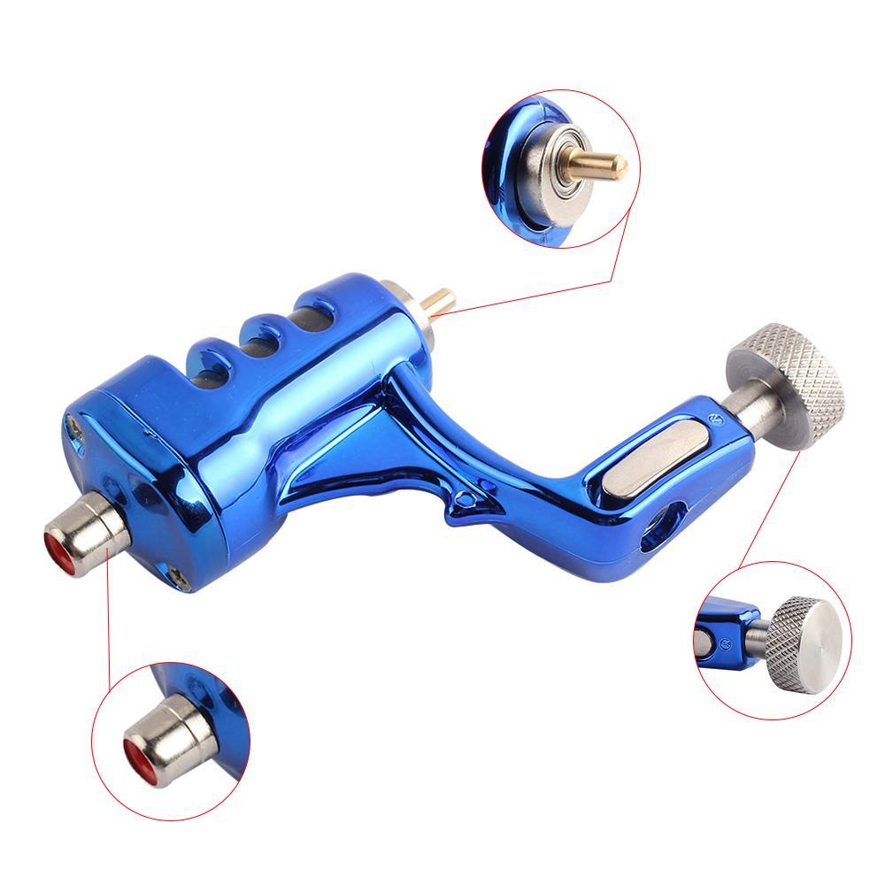 고품질 블루 문신 로타리 기계 장비 라이너와 쉐이더 완료 문신 기계 잉크 공급 장치를 설정합니다