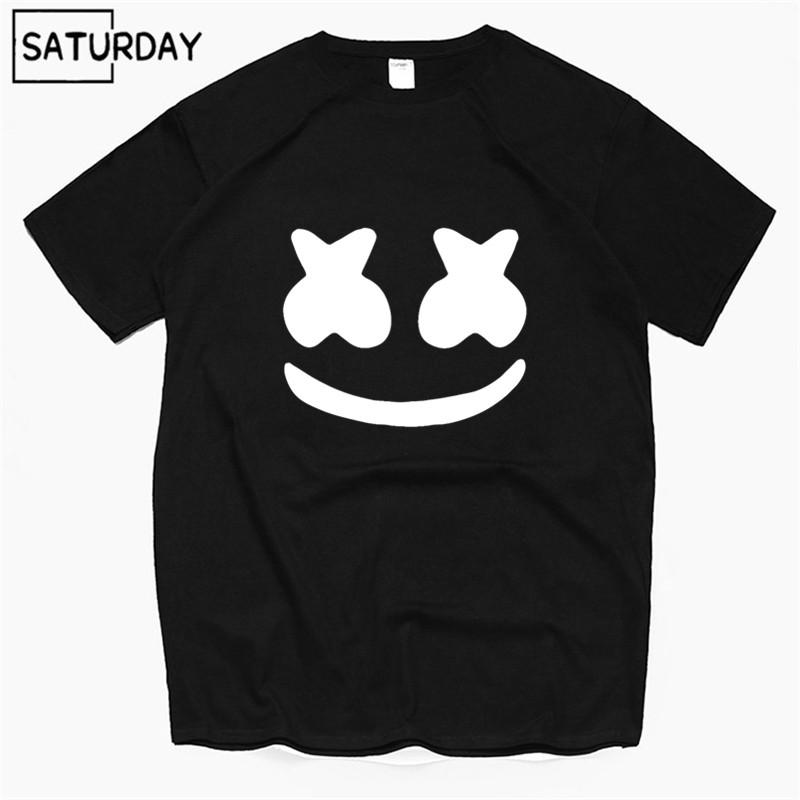 f1c7e465d2d Men S DJ Marshmello Face Funny Cotton T Shirts 2019 Summer 100% Cotton  Workout Tshirts Anime Tops Boyfriend Gift Dropshipping Shopping T Shirts  Amusing T ...