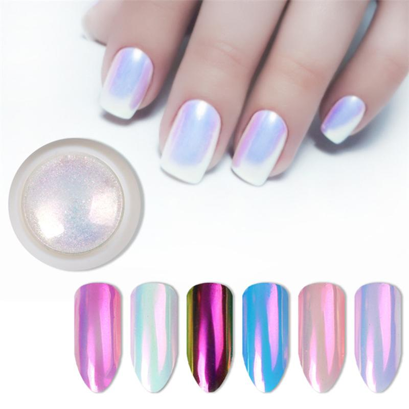 2019 New Nail Glitter Pearl Neon Pink Rub for Nails Jewelry Glitter Pink Color Shell Mermaid Pearl Mirror