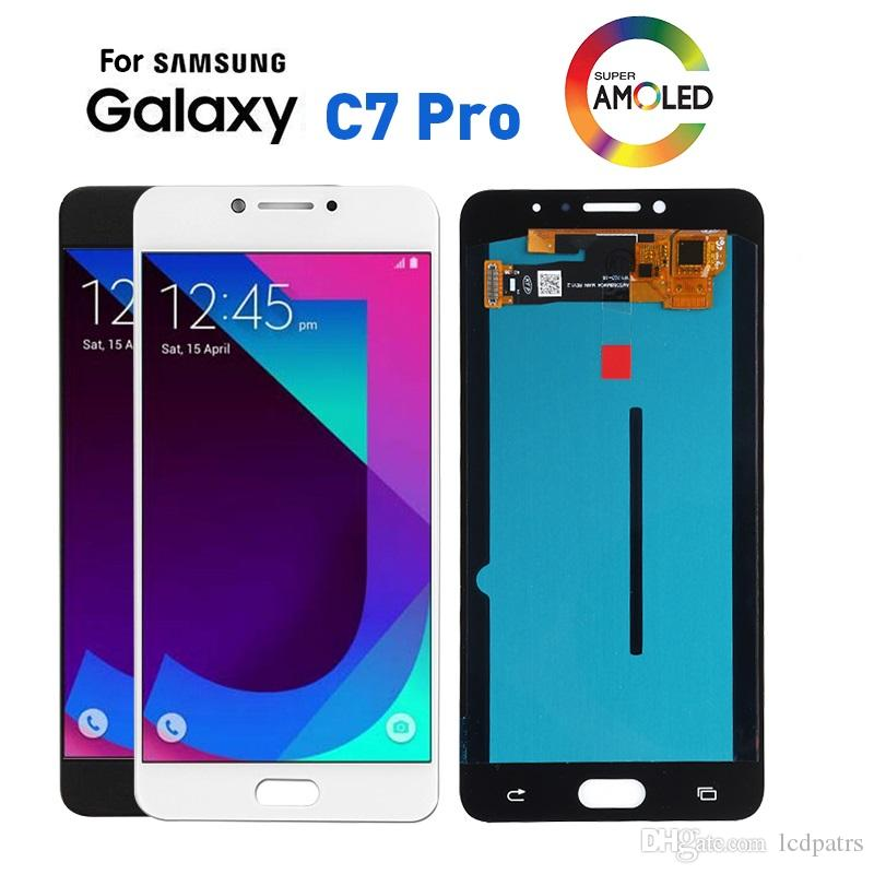 Super AMOLED LCD Screen for Samsung Galaxy C7 Pro C7010 LCD Display Touch  Digitizer Assembly C7 PRO LCD