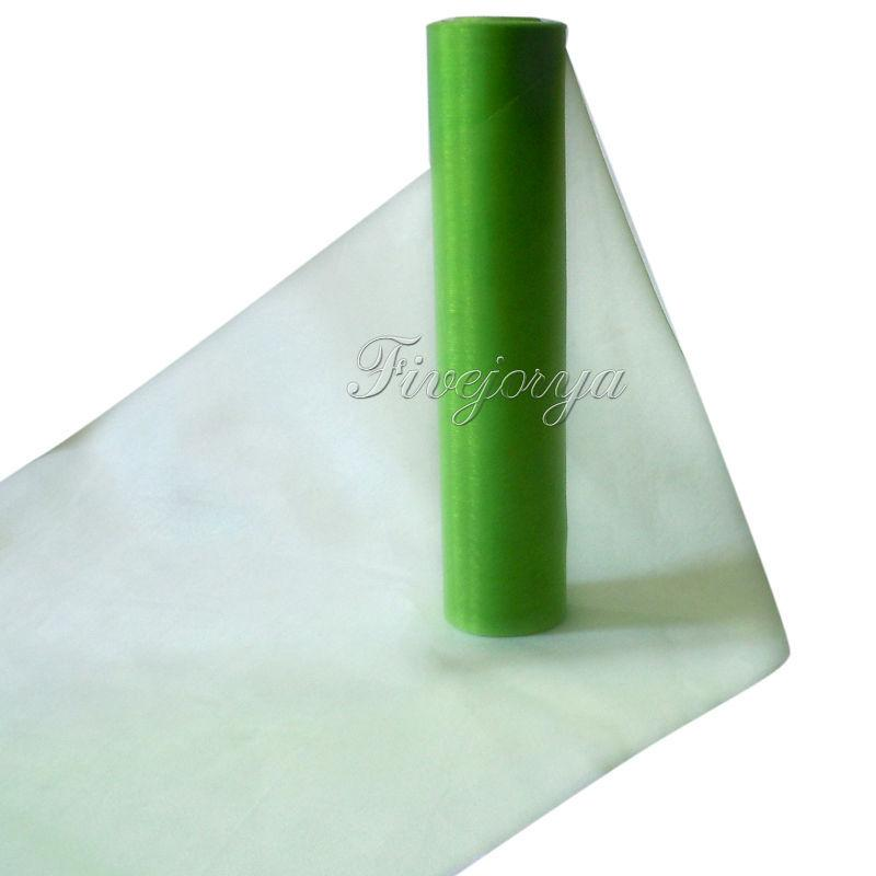 25m x 29cm Sheer Organza Roll Wedding Party Chair Sash Bow Table Runner Top Table Swag Organza Fabric Material