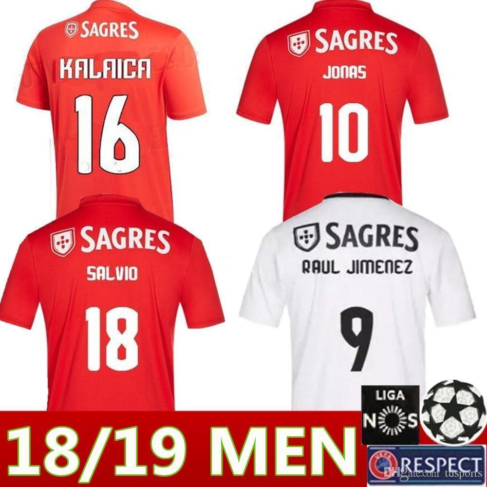 new concept 849b5 7cc98 NEW 18-19 Benfica 10 Jonas Soccer Jersey 2019 SEFEROVIC GABRIEL KALAICA  SALVIO Soccer shirt Away ZIVKOVIC ELISEU Football uniforms