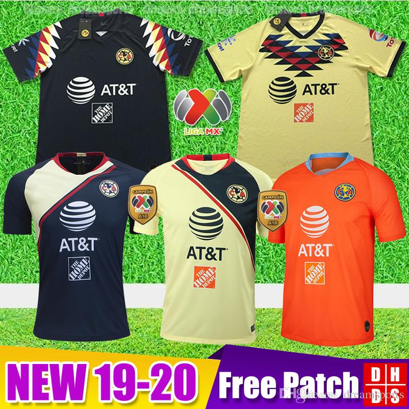 69613a9cefd 2019 New Arrived 2019 2020 Club America Soccer Jerseys Home 18 19 20 ...