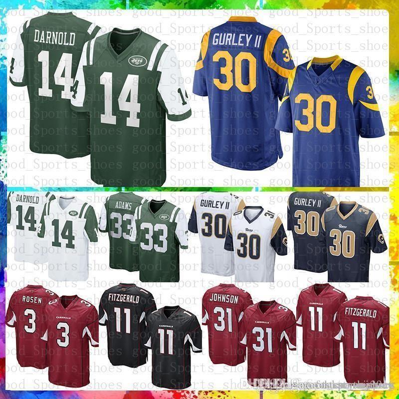 b161bcf76 2019 14 Sam Darnold 33 Jamal Adams Jets St.Louis Rams Jersey 30 Todd Gurley  Arizona 11 Larry Fitzgerald 31 David Johnson Cardinal From Susan sports