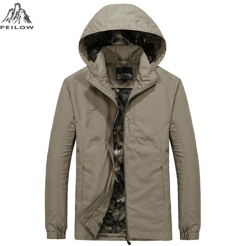 38abe2a77a1fd PEILOW Plus Size M~6XL Spring Autumn Military Jacket Men Waterproof  Windbreaker Brand Clothing Army Jacket Men Jackets And Coats Faux Fur  Jackets Overcoats ...