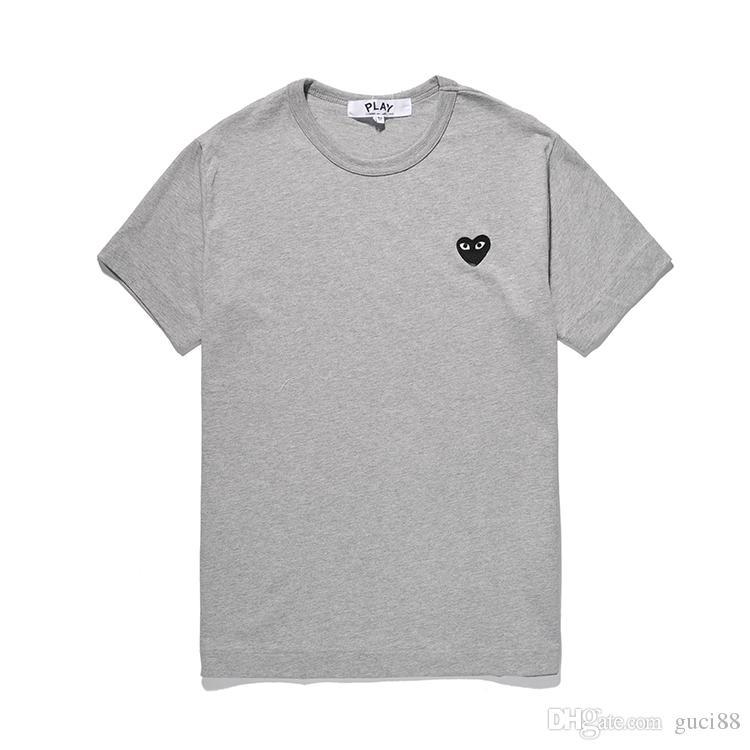 2458b1d5f8ccc3 Mens Designer T Shirt C D G PLAY Tshirts COMMES DES GARCONS Pullover TEE  Short Sleeve Heart Eyes TEE T Shirts FOR MAN WOMAN Vetements Funky T Shirt  Design T ...