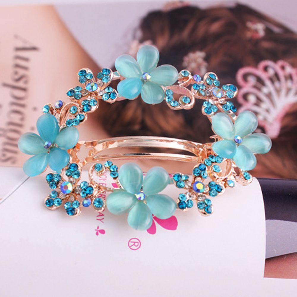 3 Styles Women Fashion Butterfly Barrettes Clam Hairpins Crystal Rhinestone Flower Girls Hair Clip Hair Accessories Wholesale