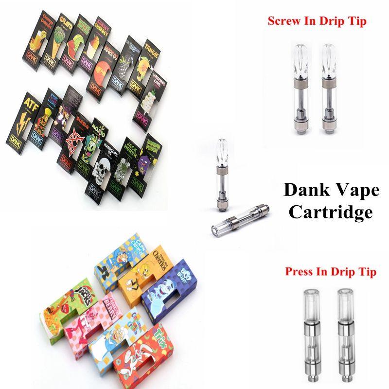 Vape Cartridge Packaging Dank Vapes Ceramic Coil 1 0ml Tank Vape Carts  Press Screw In Drip Tip Empty Vape Pen