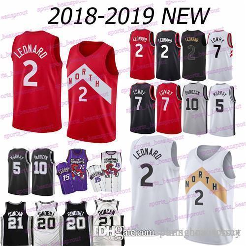 2019 Raptors Jersey 7 Kyle Lowry 2 Kawhi Leonard Spurs 10 DeMar DeRozan 20  Manu Ginobili 21 Tim Duncan Jerseys From Suyanjersey 80b567906e71