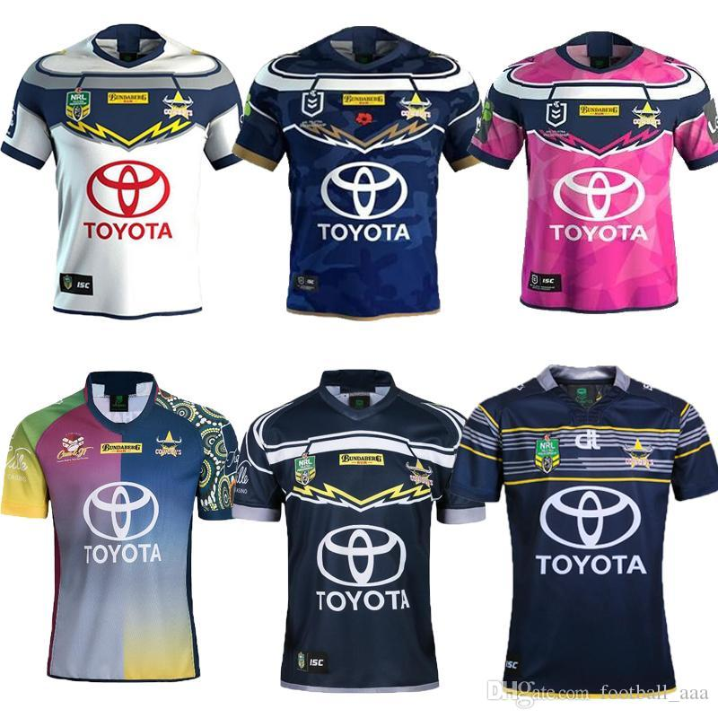 TOP AAA+ 2019 2020 North Queensland Cowboys Home Away Rugby Jerseys ... e38d704d6