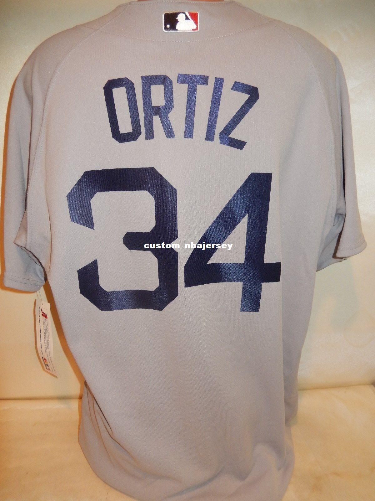 2019 Cheap Custom DAVID ORTIZ Baseball Jersey Gray NEW Stitched Customize  Any Name Number MEN WOMEN BASEBALL JERSEY XS 5XL From Custom nbajersey 02331f86e5c
