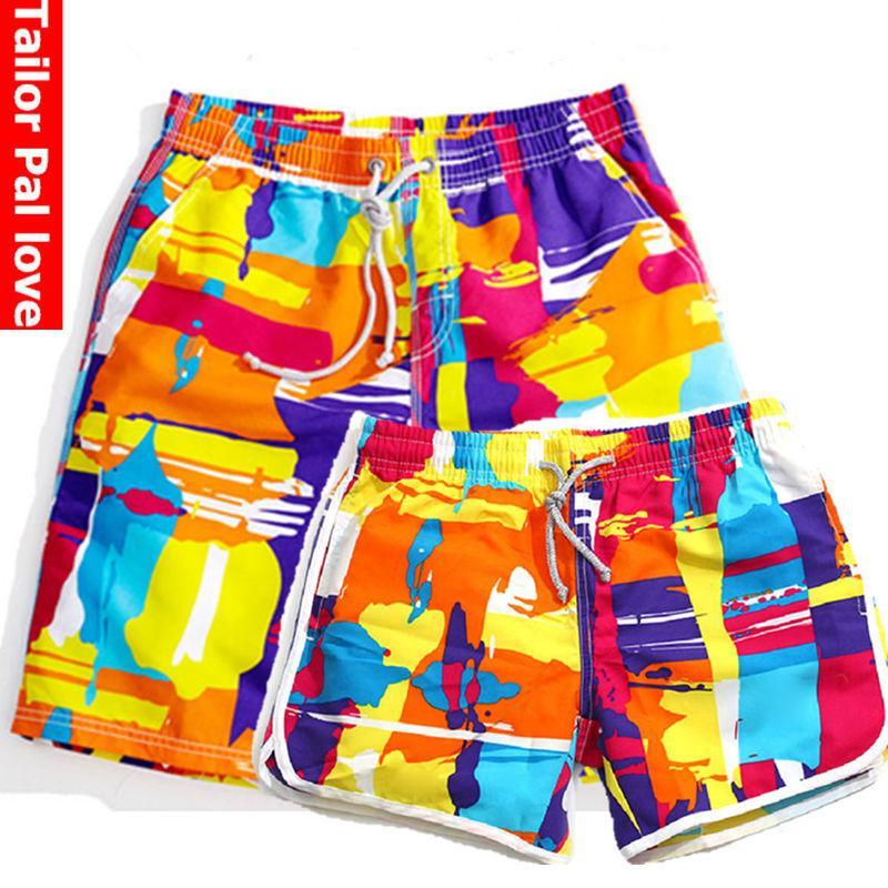 7f17298cf3212 Couple Swimwear Men Quick Dry Beach Shorts Women's Shorts For Surfing Swim  Boardshorts Swimsuit Board Bermuda 2017 praia