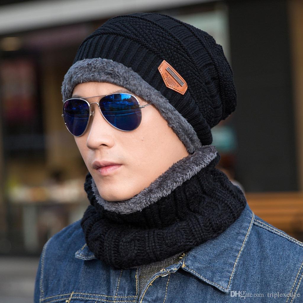 a024595fe68 2018 New Hats   Scarves Set Grey Hot Winter Hats Skullies Beanies ...