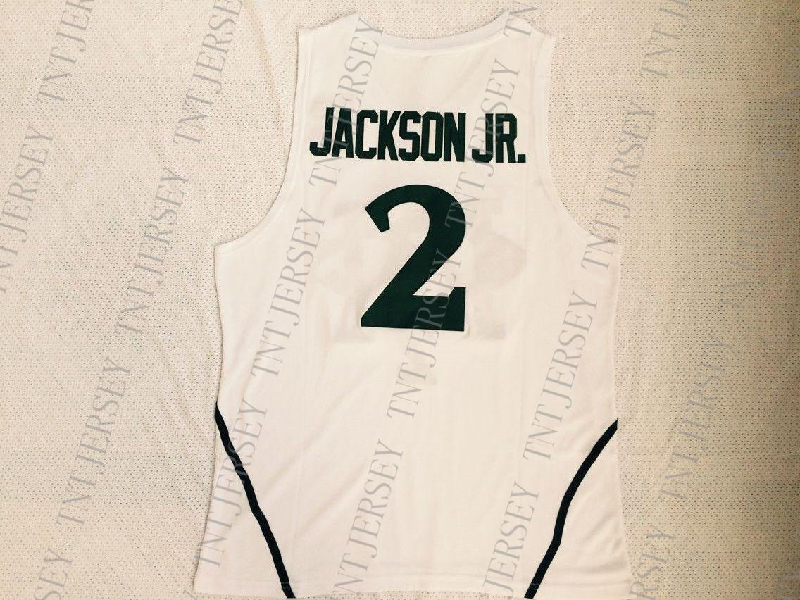 485c17e1bf2d 2019 Custom Michigan St Spartans  2 Jaren Jackson Jr. White College  Basketball Jersey Stitched Customize Any Number Name MEN WOMEN YOUTH XS 5XL  From ...