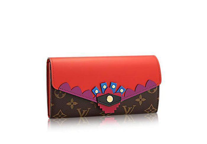 Christmas Collection Women Long Wallet M61348 Sarah Totem Wallet Oxidized Leather Clutches Evening Long Chain Wallets Compact Purse