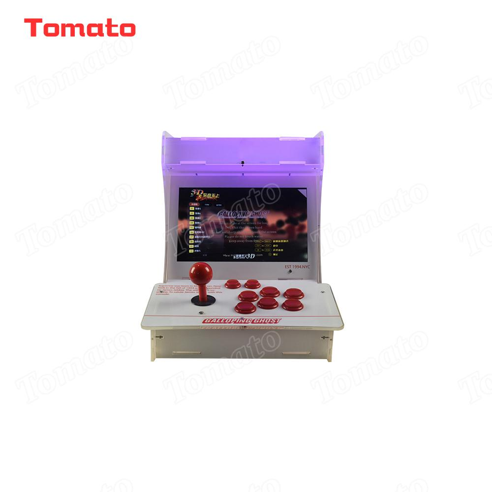 Tomato High quality Hot Sale Acrylic White Mini Multi Video Game Model Indoor Arcade Game Machine For 2 Players