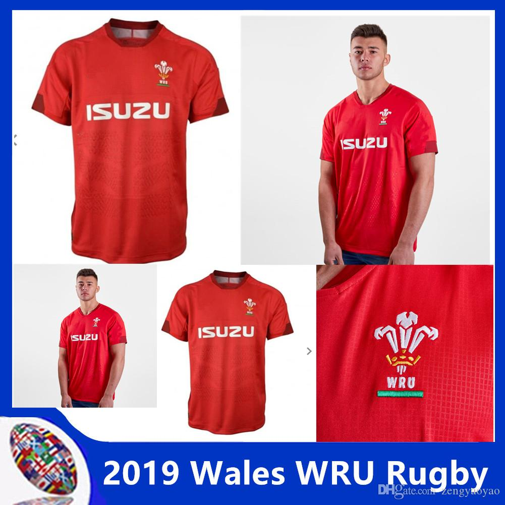 fdf28a5f244ec1 2019 Wales WRU 2018/19 Home S/S Shirt Top New Rugby Jerseys Shirt Wales  Rugby Jerseys Red Men Shirt Size S 3XL From Zengyaoyao, $17.75 | DHgate.Com