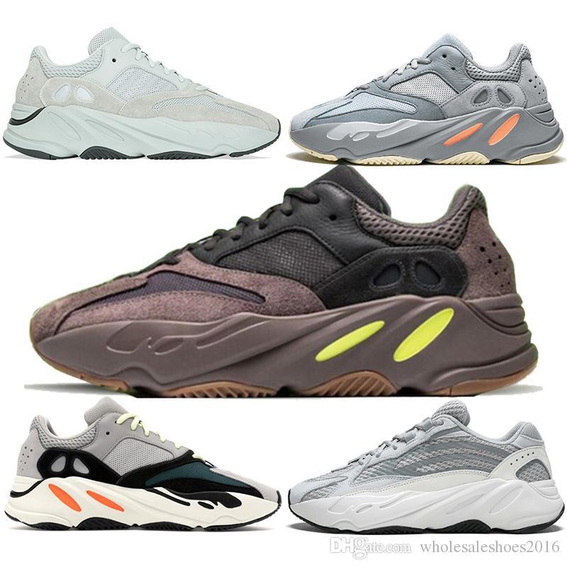 a1ab129903cee 2019 Boost 700 V2 Running Shoes Men Women Inertia Wave Runner Mauve Static  Salt Geode Triple Black White Kanye West Top Designer Sport Sneaker From ...