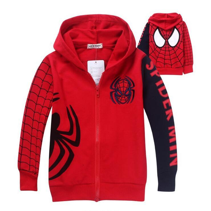 257fcdd8973a New Boys Spiderman Coat Kids Cotton Spring Jacket Chirdren Character ...