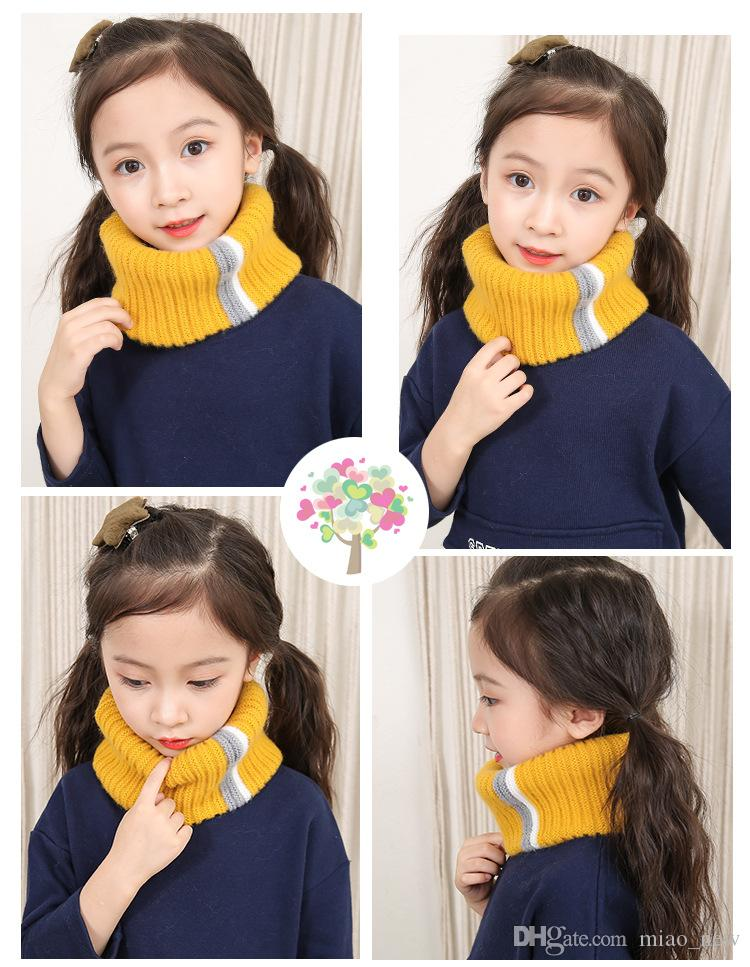New children's scarves, women's autumn and winter Korean wool neckwear, warm and leisure, colorful fashion, boys and girls' Neckwear