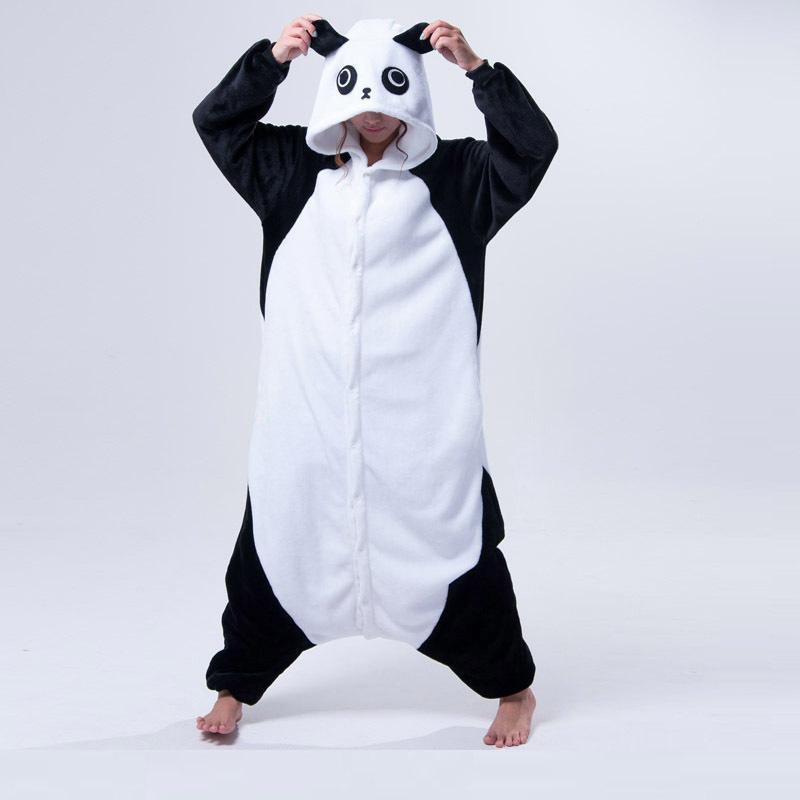 migliori scarpe da ginnastica a2c8e cac6e Cute Cartoon Kigurumi Panda A maniche lunghe con cappuccio Tutina Adulto  Donne Animal Lovely / occhi rossi / Kungfu Panda Pigiama