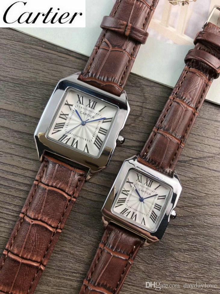 72064fc54f1 Compre Aaa Relojes De Lujo Para Mujer Relojes Para Hombre Diseñador De La  Marca Correa De Cuero Reloj De Pulsera Original Movimiento De Cuarzo  Importado ...