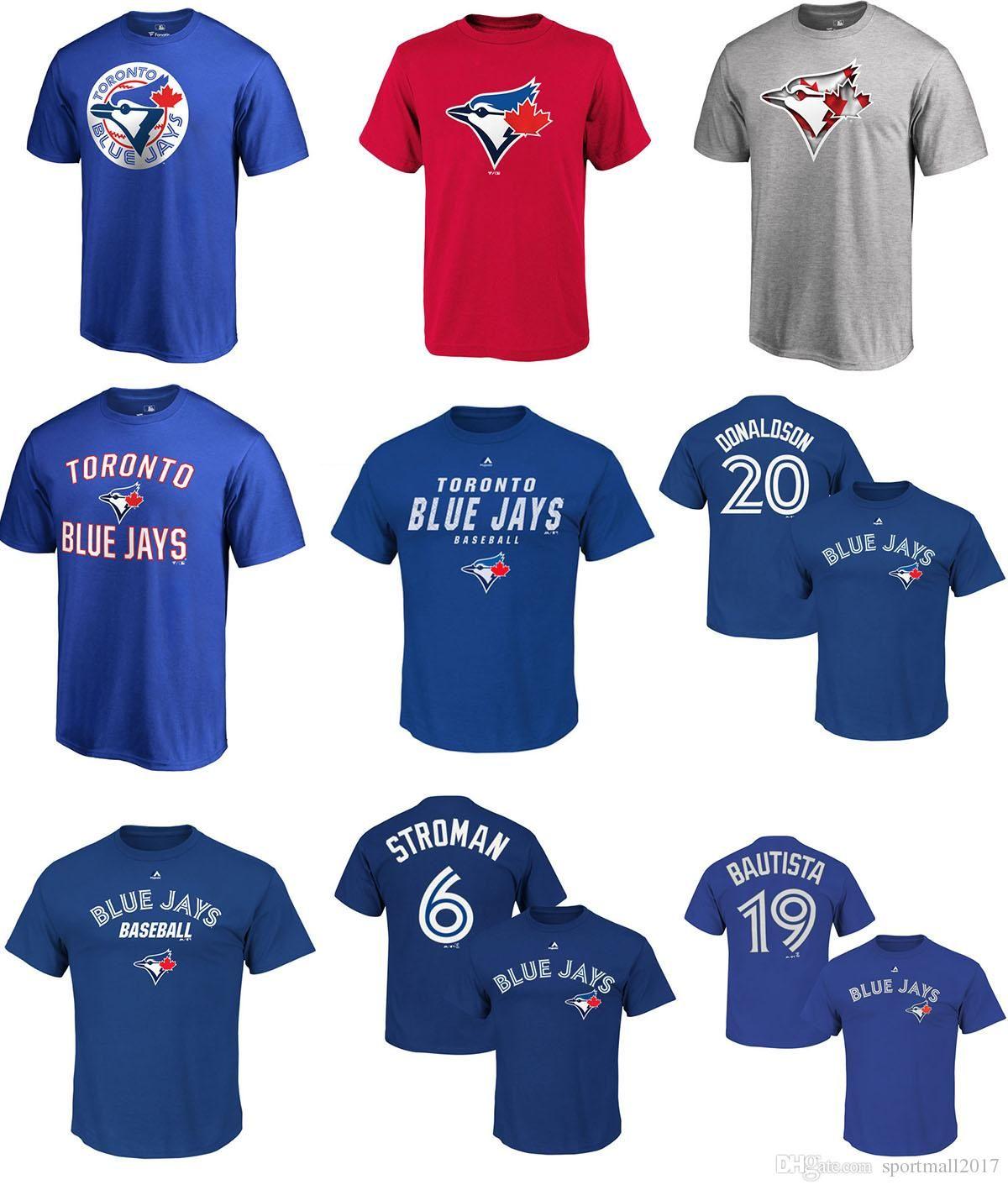 d499dd6d 2017 MLB TORONTO BLUE JAYS Josh Donaldson Marcus Stroman Jose Bautista Any  Custom Name And Number Logo BASEBALL T Shirt Original T Shirts T Shirts  With ...
