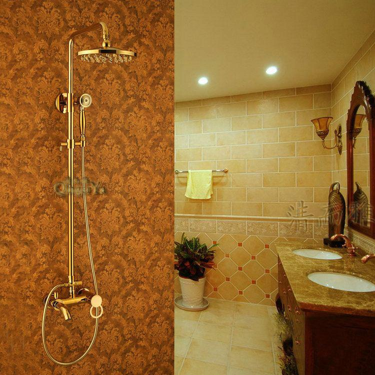 Retro flower spray Royal gold spray gold titanium gold all bronze shower antique golden shower shower