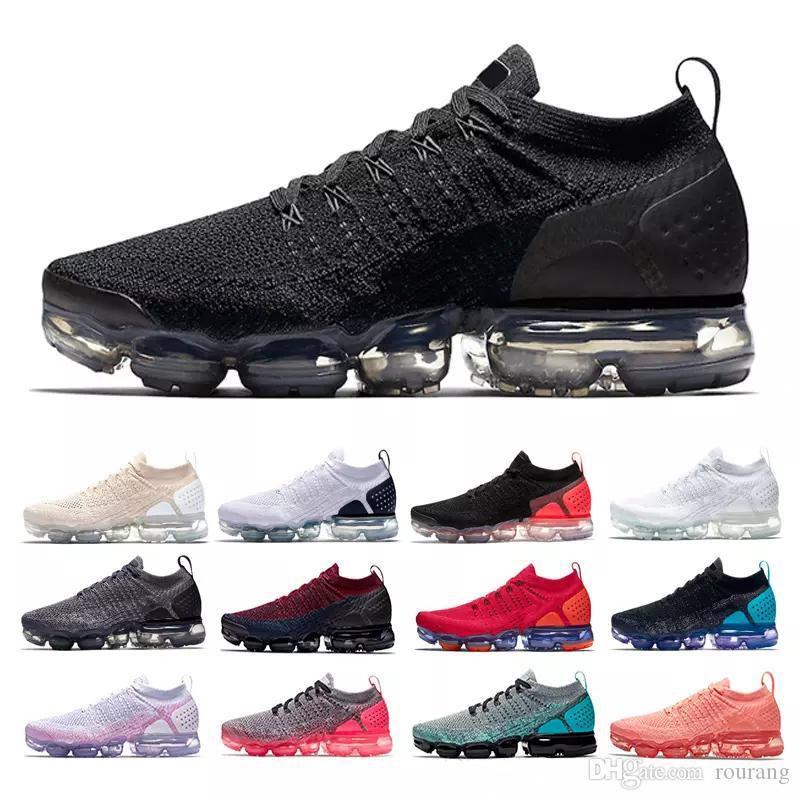 finest selection d38c6 1f3d4 Acheter Nike Air Max Airmax Vapormax Flyknit 2.0 Haute Qualité 2018 Air  Hommes Femmes Chaussures De Course Coussin Surface Respirant Ligne Mouche  Chaussures ...