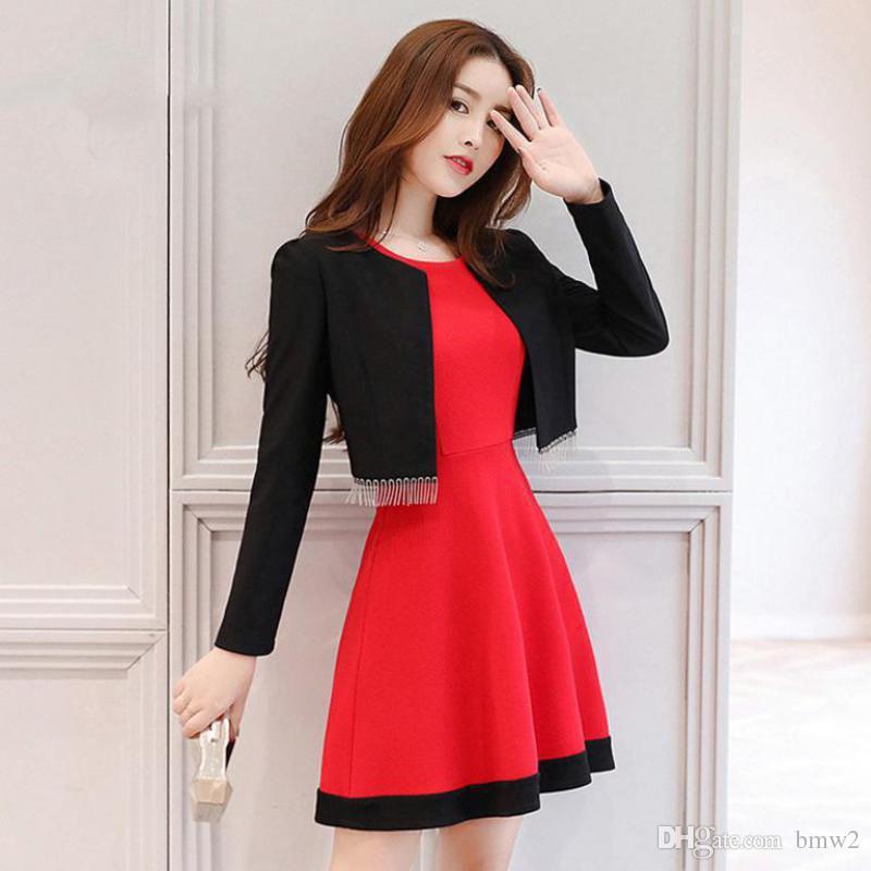 2018 Women Dress Suits Spring Autumn S Xl Female Blazer Clothing Set