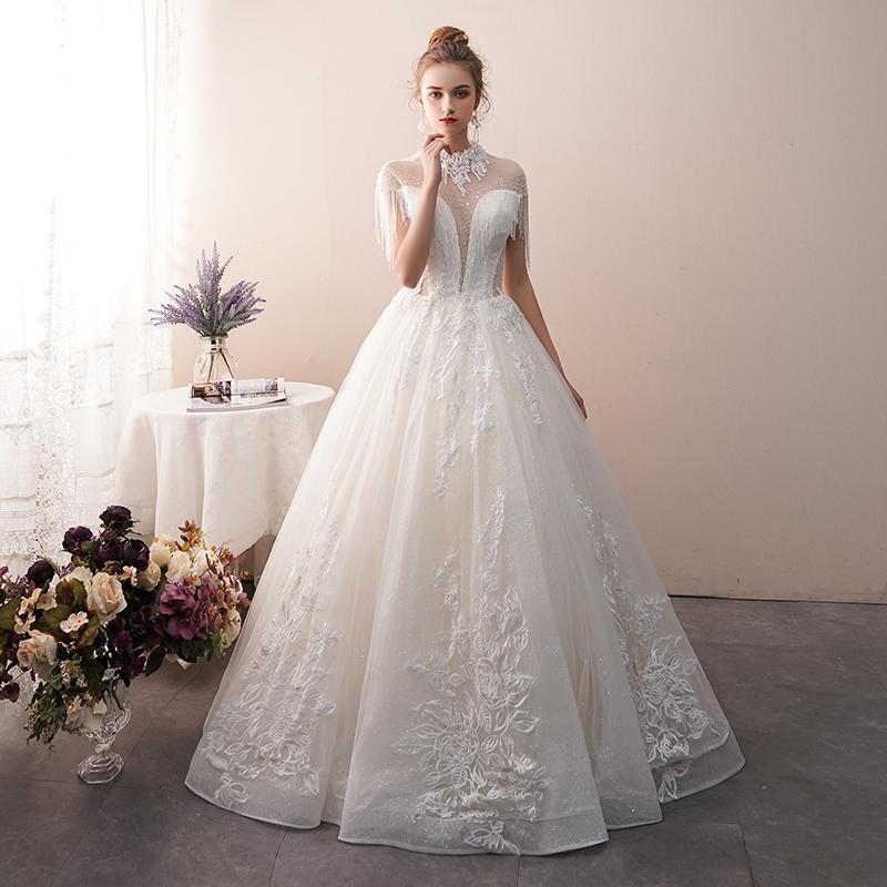 compre vestido de novia francés 2018 nuevo hilo de lujo retro lujo y