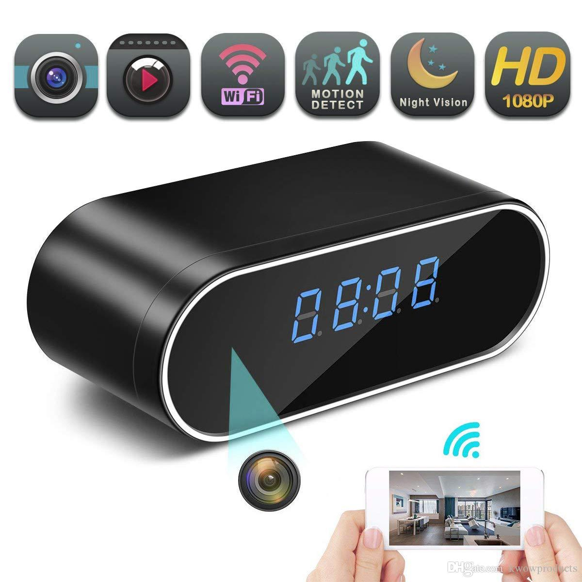 Hidden Spy Wireless Camera, 1080P Clock Hidden Camera Wireless IP Surveillance Camera for Home Security