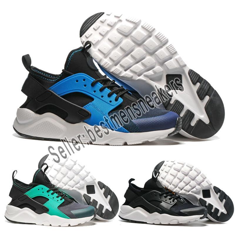 e487cfa4ac74 Compre Nike Shoes Men Women 2019 Air Huarache 4 Homens Mulheres Tênis De Corrida  Todos Os Huraches Branco 3 Zapatos Ultra Respirar Huaraches Mens Formadores  ...