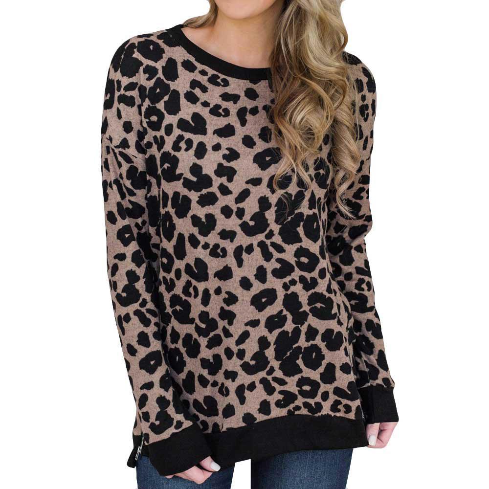 2019 Sexy Leopard Print Top Women Fashion Cotton Shirt Ladies Elegant  Social Wear Long Sleeve Blouse Loose Casual Tops Female  PT From Fabian05 75c2f27d8