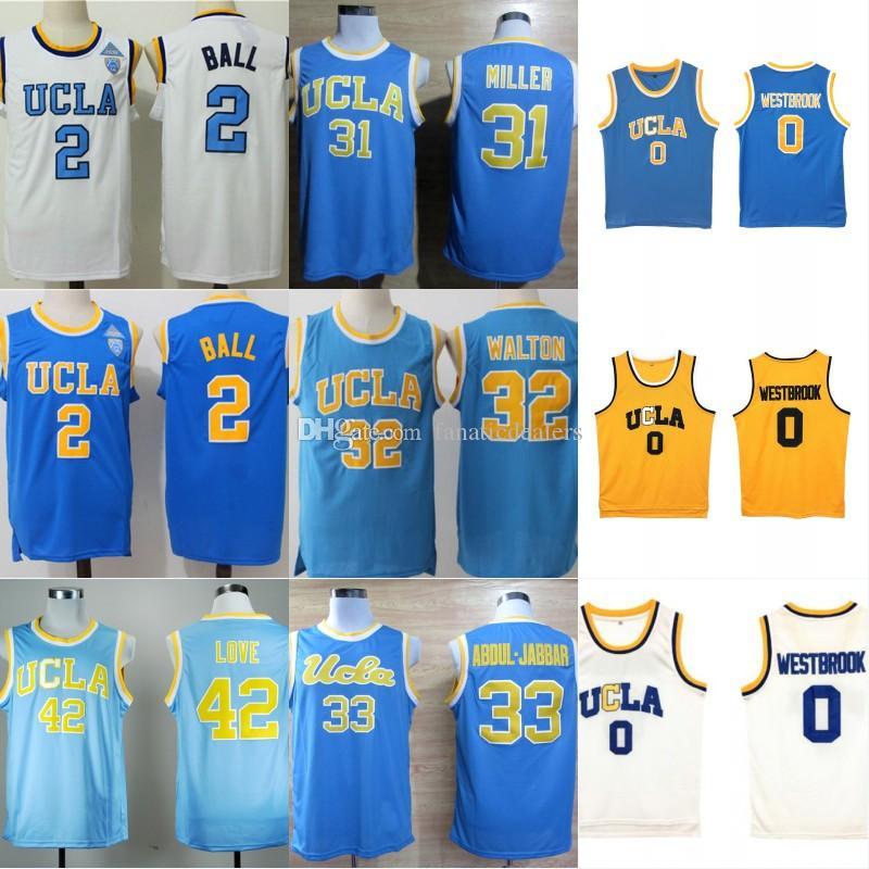 8f88fc67376c 2019 UCLA Bruins Jersey 32 Bill Walton 2 Ball 42 Kevin Love 31 Miller  Abdul.Jabbar Westbrook LaVine Stitched Men College Basketball Jersey From  ...