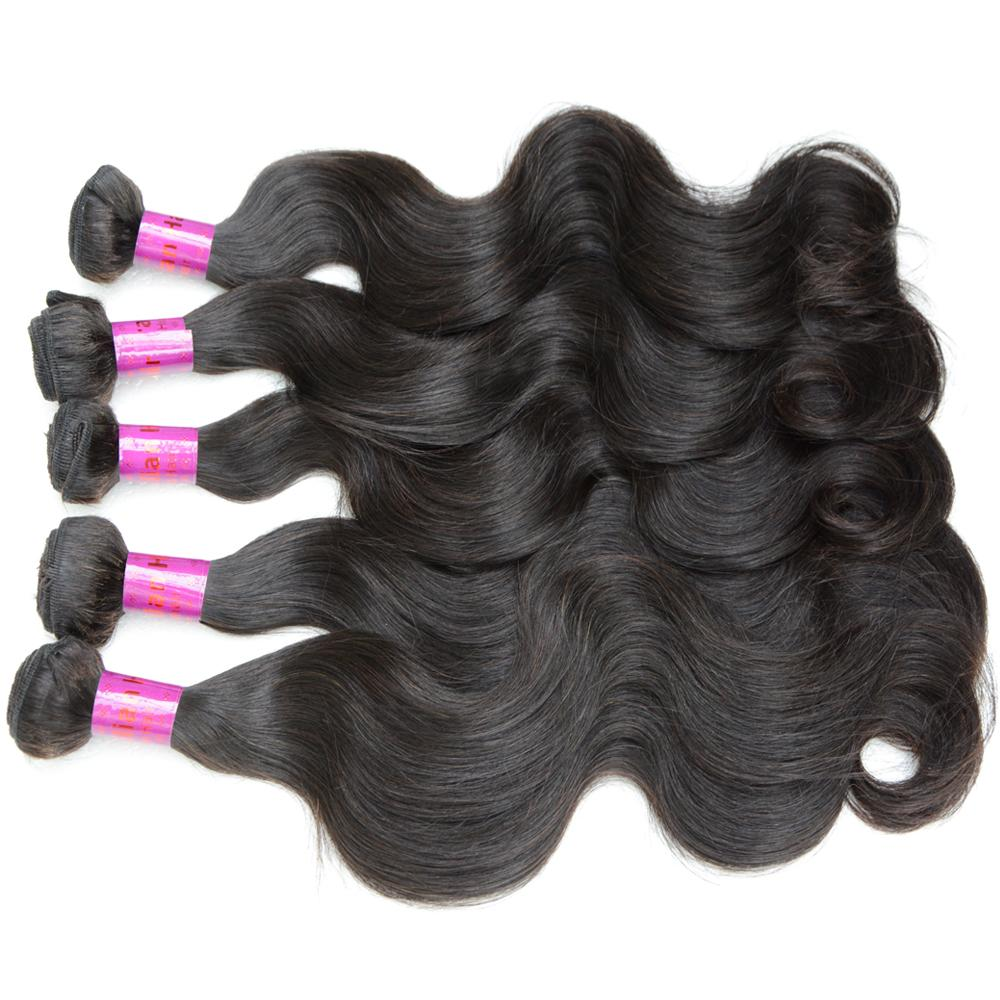 10A Brazilian Peruvian Body Wave Hair Weave Indian Malaysian Russian Mongolian Cambodian Human Hair Weft 3 Bundles Wavy Bulk Extension 8- 32