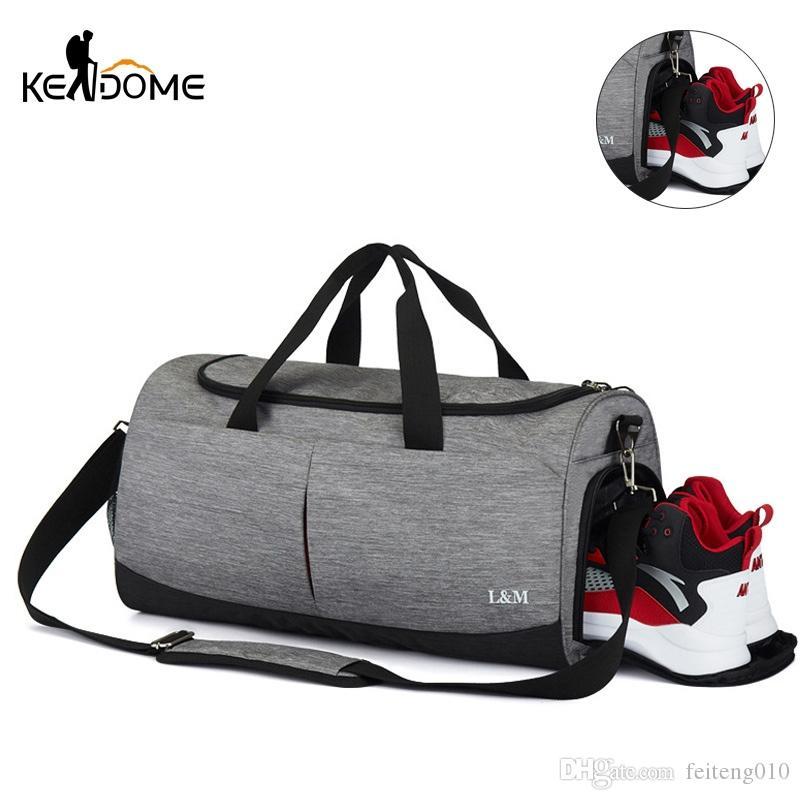 cf317b220e 2019 Men Sports Gym Fitness Bag Training Handbag Women Shoulder Bag Nylon  Travel Large Capacity Gymtas Bolsa Tas Sac De Sport XA86D #696686 From  Feiteng010, ...