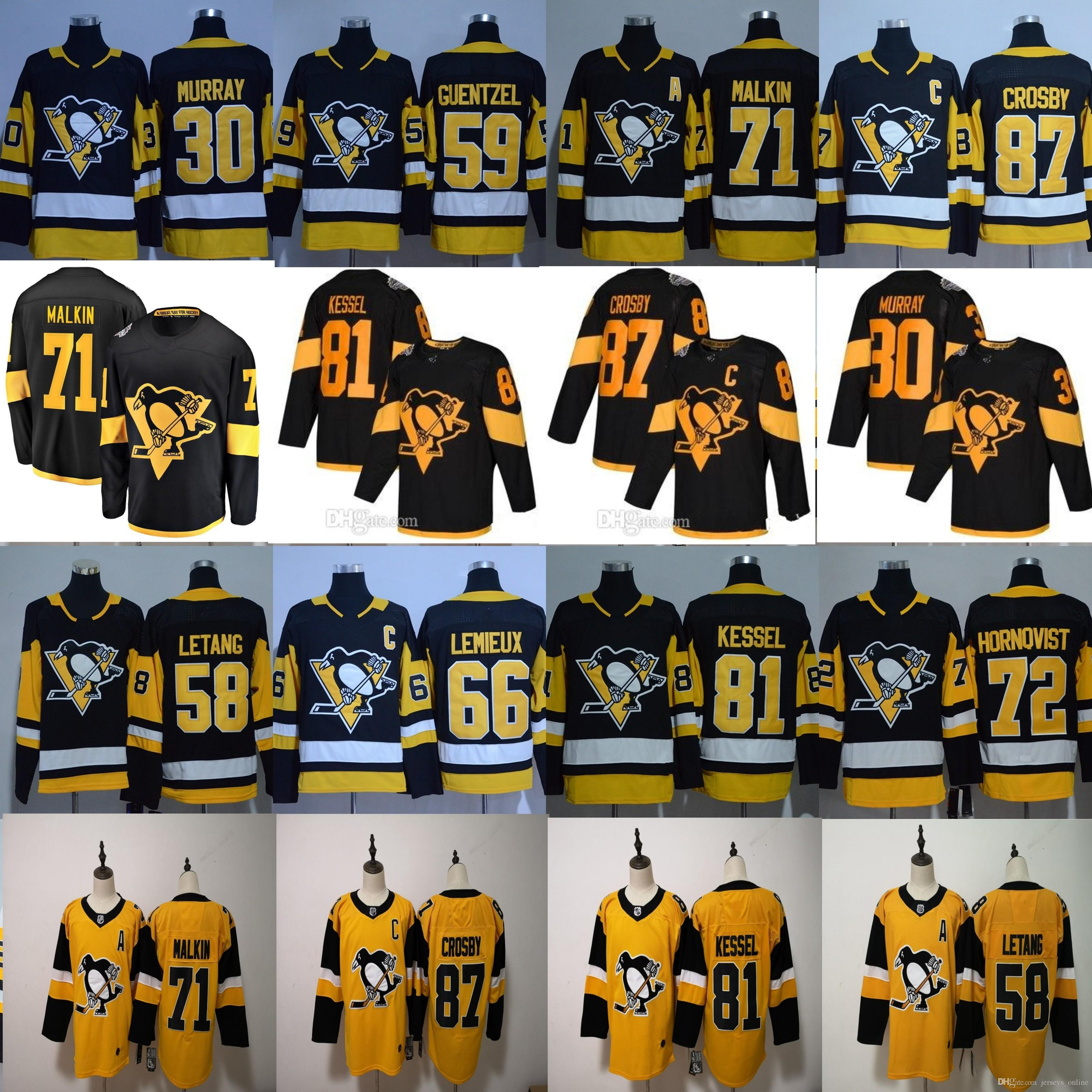 2019 2019 Stadium Series MEN Pittsburgh Penguins Sidney Crosby Evgeni  Malkin KRISTOPHER LETANG Mario Lemieux Jake Guentzel Phil Kessel Jerseys  From ... ad76e2fe2